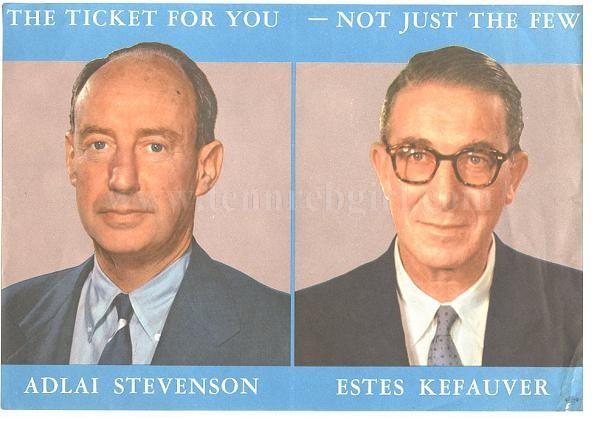 1956 Democrat Donkey Political 2 Pins Mint Condition Adlai Stevenson N-055