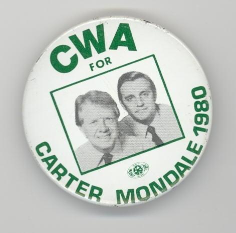 PA INAUG CARTER /& MONDALE JUGATE CUMBERLAND CO BADGE